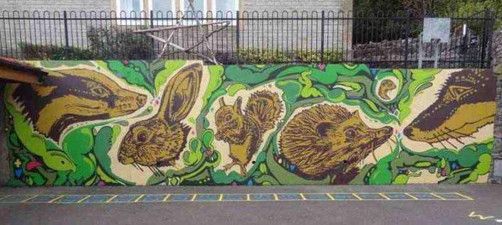animal mural by graft graffiti