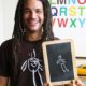 Luke Drew This chalk drawing and t-shirt