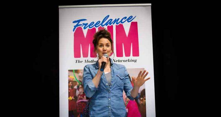 Katy Ashworth speaks at Freelance Mum Brave, Bold and Bonkers