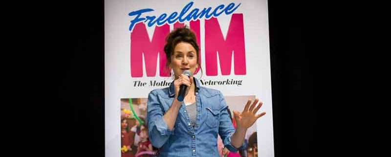 Katy Ashworth speaks at Freelance Mum Brave, Bold and Bonkers