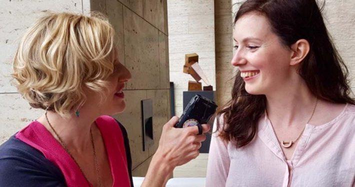 Freelance Mum, Faye Dicker, interviewing at IPSE National Freelancers Day