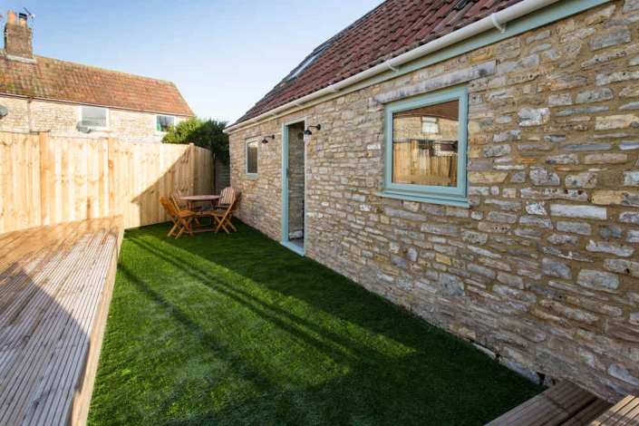 Decking and Garden Area Outside The Barn Venue For Hire